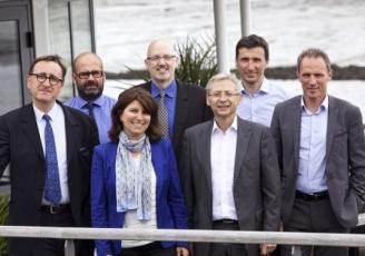 Socomore, basée à Vannes est présidée par Frédéric Lescure, à gauche sur la photo.
