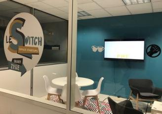 Inauguré en décembre 2017 au sein du pôle Pégase à Lannion, Switch est un nouvel espace de coworking dédié aux start-up.