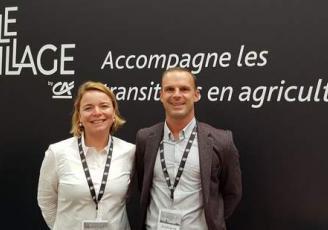 Carole Gourmelon et Philippe Le Goff , respectivement Maires Villages By CA Ille-et-Vilaine et Côtes d'Armor