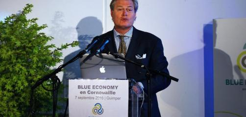 Gunter Pauli, intervention à Quimper pour la Blue economy