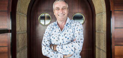 Pierre-Yves Roué, propriétaire de l'hôtel-restaurant Ar Men Du, à Névez.