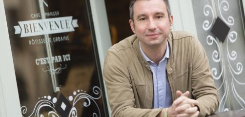 Sébastien Blot, patron du Café des Jacobins situé à deux pas du nouveau centre des congrès de Rennes.