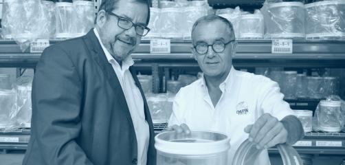Guillaume Chupin (à gauche) a créé C.P.S.I à Saint Malo en 2010. Il est ici accompagné de Pierre Marichal, son Directeur commercial