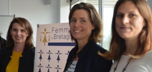 Marie Eloy, au centre, fondatrice et présidente de Femmes de Bretagne.