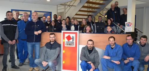 Le site d'Ermhes à Vitré emploie une quarantaine de personnes dont 30 à l'atelier