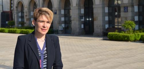 Séverine Ferrand, présidente de l'union commerciale de La Guerche de Bretagne de 2015 à 2017, très impliqué dans le projet de place de marché locale