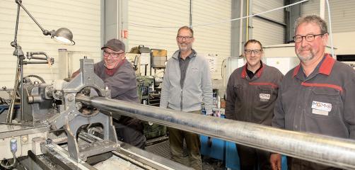 Guy Gelon (ée à partir de la gauche) a repris les établissements Meunier à Vannes pour créer MGM-E. Les emplois ont été sauvegardés.