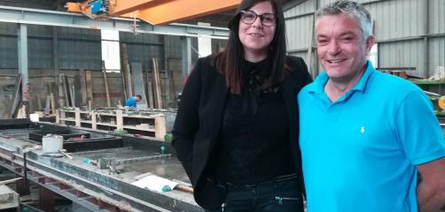Lise et Stéphane Simon, dirigeants de l'entreprise Préfa-Ouest