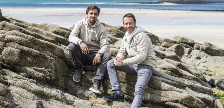 Laurent Coulloume-Labarthe et Simon Ferniot cofondateurs de Biogroupe à Erquy dans les Côtes d'Armor