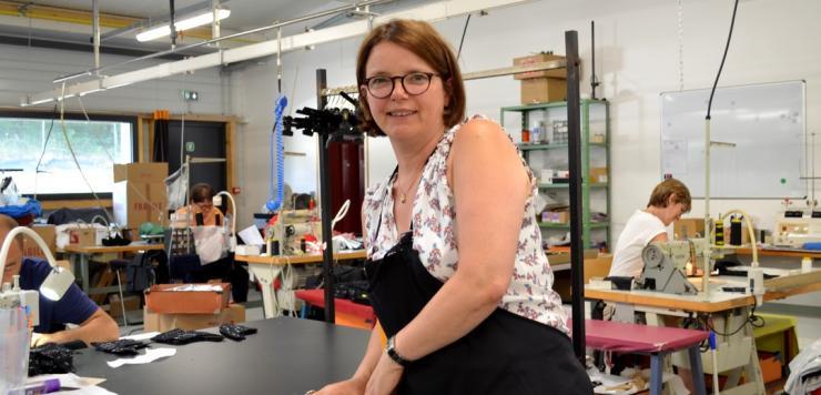 Catherine Costard à la  tête de Confection Allain à Saint-Pierre de Plesguen a été accompagné par la CCI Ille-et-Vilaine dans le cadre du dispositif BRH +