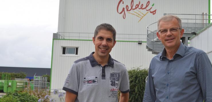 Frédéric Bonnet a pris, en juin dernier la responsabilité du site industriel de Geldelis, 4 000 m² situés près de Vitré en Ille-et-Vilaine. A ses côtés : Bruno Piovesan, Directeur commercial