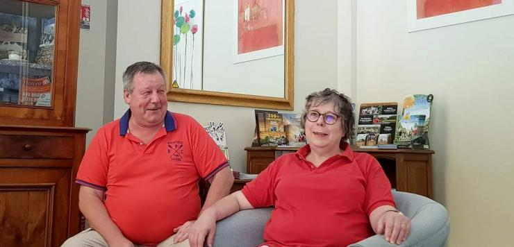 Laurence et Bernard Reignier, propriétaires de l'hôtel Balzac à Fougères