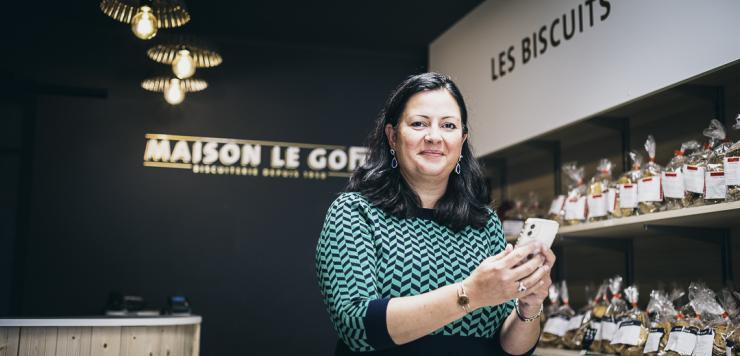 Marie-Laure Jarry, directrice générale de Maison Le Goff : «une nouvelle communication marque la renaissance de la biscuiterie.»