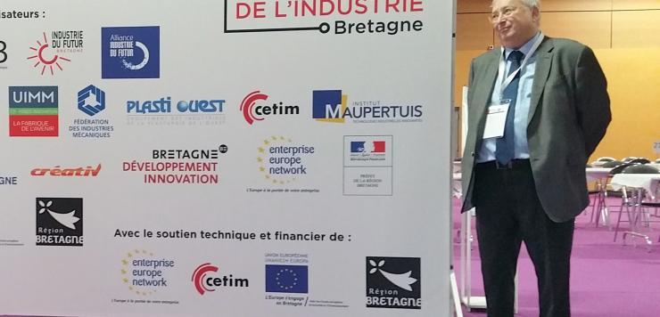 Thierry Troesch , président de la CCI des  Côtes tes d'Armor