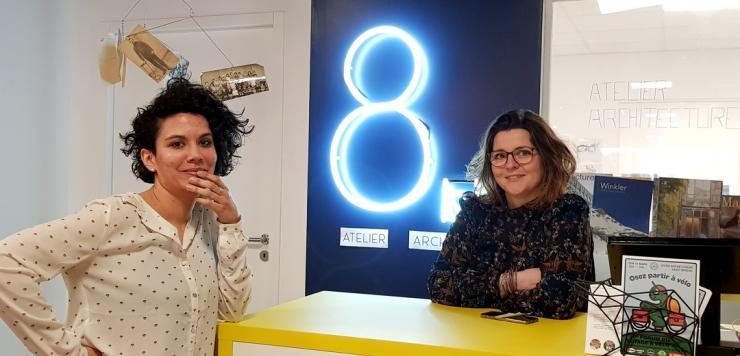 Chez Passage 8 à Saint-Brieuc, Julie et Morgane veulent en priorité remettre le contact humain au centre de leur atelier d'architecture
