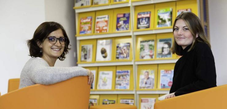 Sophie Sourice, formatrice en BTS Management Commercial Opérationnel à la Faculté des métiers sur le site de Saint Jouan-des-Guérets et Julie Lefévère-Jouquan, apprentie