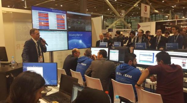 Diateam présente ses produits et son offre de formation et entraînement à la cyberdéfense au Fic 2017 en janvier dernier