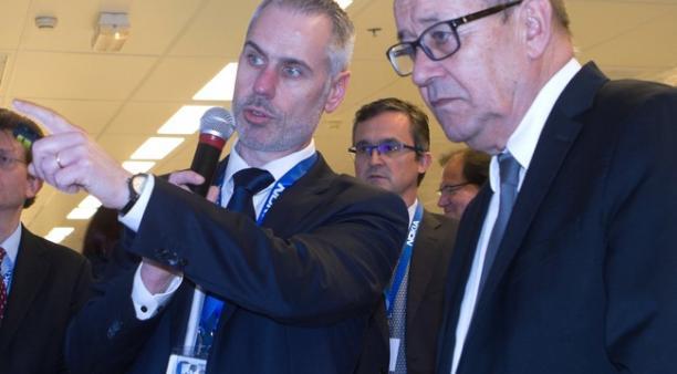 Lors de sa visite le 13 décembre dernier de Nokia à Lannion, Jean-Yves Le Drian a pu assister à plusieurs démonstrations de cybersécurité en compagnie du directeur du site, Arnaud Laforge