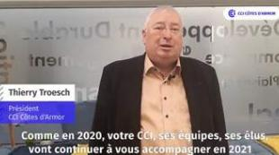 Les voeux de Thierry Troesch, Président de la CCI des Côtes d'Armor