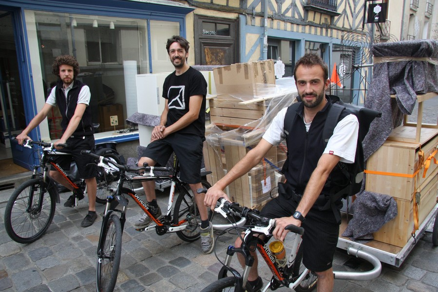 Les 3 cofondateurs de Toutenvélo, Scop créée à Rennes en 2012