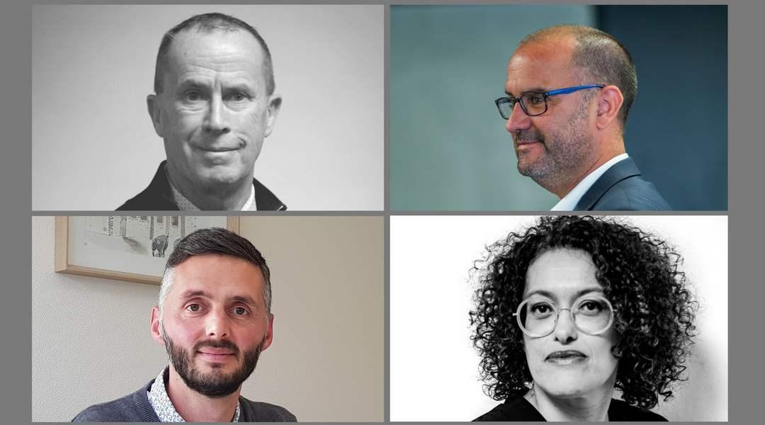 De g à d :  Philippe Martineau (Udife), Guillaume Le Nilliot (Breizhhacking), Aurélien Ollivry (Déclic) et Hélène Plassoux (Idjinov)